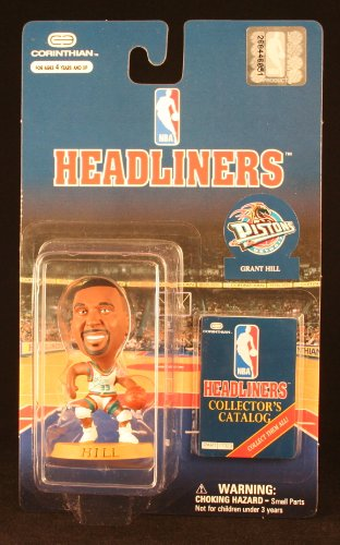GRANT HILL / DETROIT PISTONS * 3 INCH * NBA Headliners Basketball Collector Figure - 1