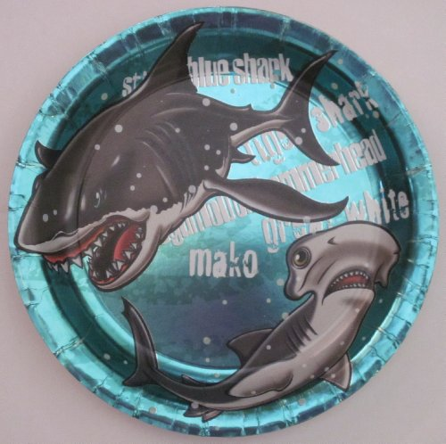Buy Shark Party Birthday Party Supplies 9\  Luncheon Paper Plates (8) Now & Shark Party Birthday Party Supplies 9\