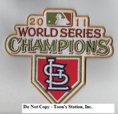 MLB St. Louis Cardinals 2011 World Series Champions Logo Patch