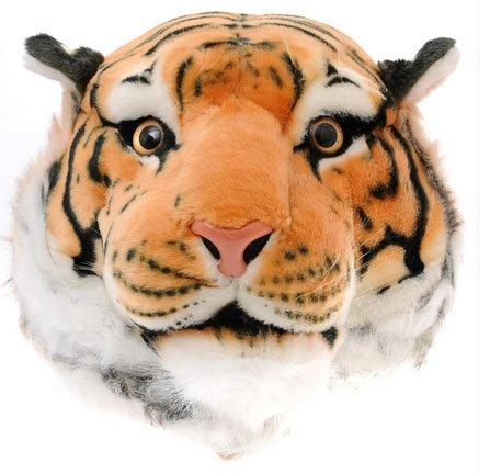 【2色展開】 デカ 顔 ぬいぐるみ のような アニマル リュック タイガー  大人用 (イエロータイガー)