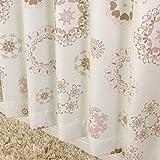 遮光 断熱 レース 厚地カーテン2枚 と ミラーレースカーテン2枚 の セット マリーSET-ピンク 幅100x丈135cm 4枚組