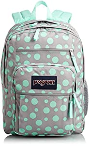 JanSport Mens Classic Mainstream Big Student Backpack - Grey Rabbit Sylvia Dot / 2.20