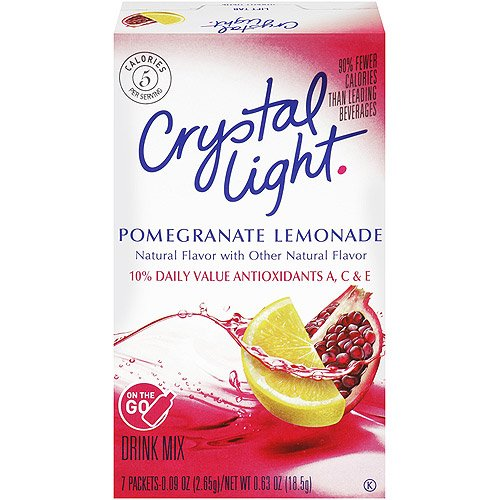 Crystal Light Skin Essentials, Pomegranate Lemonade, 7-Count Boxes (Pack of 6)