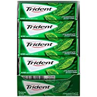 Trident Sugar Free Gum,Spearmint,18-Count (Pack of 12)