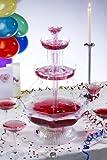 UZO1 Illuminated / Lighted Party Beverage Fountain (Punch Bowl), Operates o ....