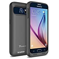 Galaxy S6 Battery Case – Trianium Atomic S Portable Charger Galaxy S6 Charging Case [Black/Black]…
