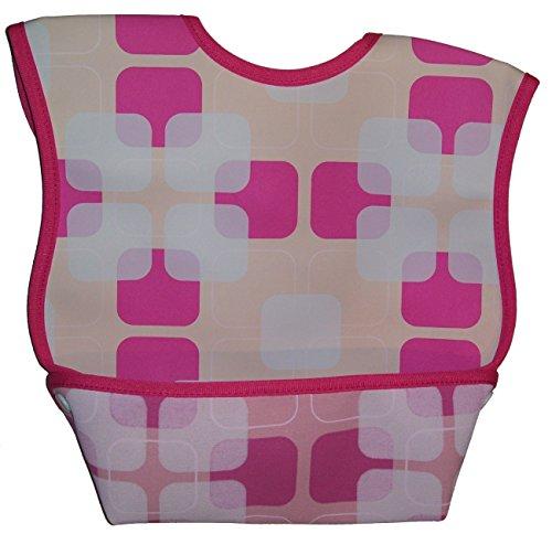 Dex Baby Dura Bib Crum Catcher - Geo Bib, Pink,OneSize,Pink