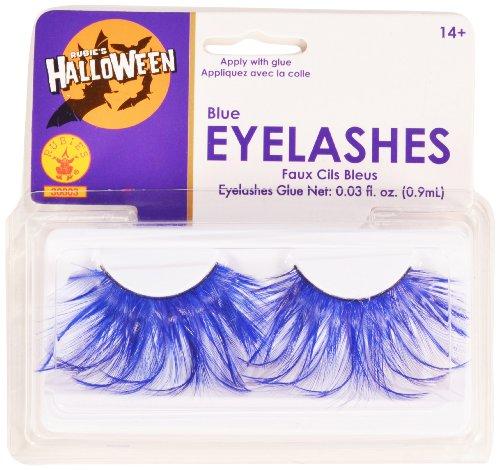 Rubies Blue Eyelashes and Adhesive - 1