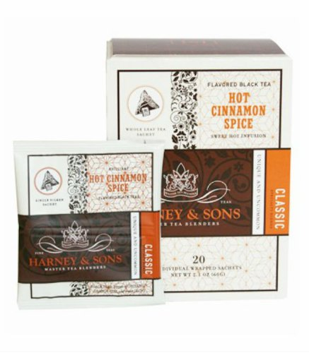 Harney And Sons Hot Cinnamon Spice, Flavored Black 20 Sachets Per Box