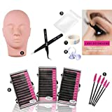 Dragon Grain Training Mannequin Head False Eyelashes Extensions Practice Set for Makeup Training and Eyelash Graft(1 Practice Set) (Color: 1 Practice Set)