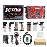 Online V2.47 EU Red Kess V5.017 OBD2 Manager Tuning Kit KTAG V7.020 4 LED Kess V2 5.017 BDM Frame K-TAG 7.020 ECU Programmer (Ktag EU Red 4 LEDs) (Tamaño: Ktag EU Red 4 LEDS)