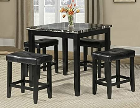 5 pc counter height dining table set by Acme Furniture