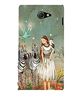 EPICCASE fairy tale Mobile Back Case Cover For Sony Xperia M2 (Designer Case)
