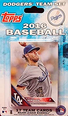 Los Angeles Dodgers 2016 Topps Factory Sealed Special Edition 17 Card Team Set with Yasiel Puig and Clayton Kershaw Plus