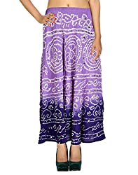 Vinatge Designs Casual Skirt Cotton Purple Ethnic For Her By Rajrang