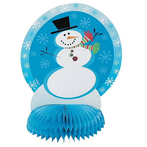 "6"" Mini Honeycomb Stellar Snowman Holiday Decorations, 4ct"