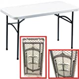 SOVI - 4 FT FOLDING TABLE / CAMPING PICNIC PARTY ROOM GARDEN / RECTANGLE TABLES