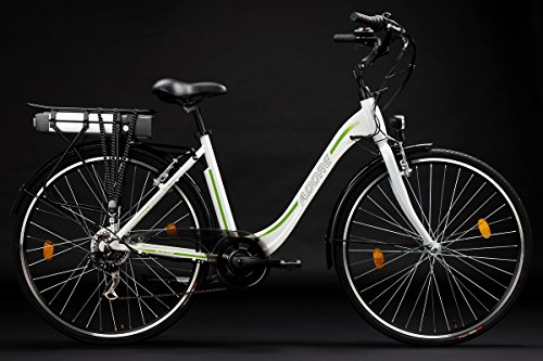 Adore-Damen-Alu-City-Pedelec-Versailles-E-Bike-250-Watt-Li-Ion-36V104-Ah-6-Gnge-Fahrrad-Wei-Grn-28