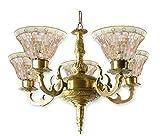 Fos Lighting Meenakshi Golden Katora Chandelier