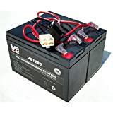 Razor Dirt Quad	Battery Replacement - Includes Wiring Harness (8 ah capacity - 24 volt system) by Vici Battery - TM