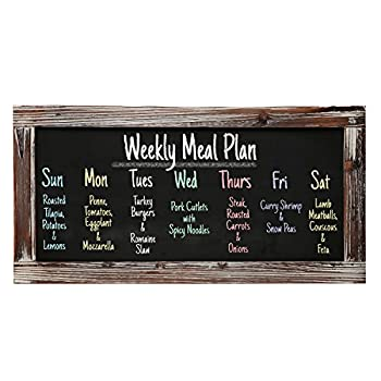 Rustic Style Wood Framed Erasable Blackboard / Chalk Message Memo Board / Restaurant Store Sign - MyGift®
