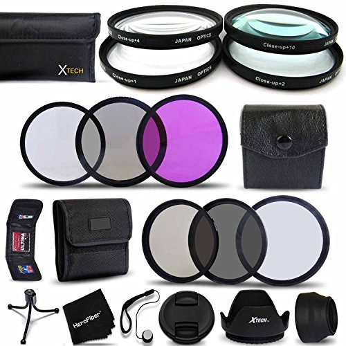 PRO 58MM Lens Filters + 58mm Lens Hood KIT for CANON EOS 70D 60D 7D 6D 5D 5DS 5DSR 7D EOS REBEL T6i T6S T5 T5i T4i T3 T3i T2i SL1 EOS 760D 750D 700D 650D 600D 550D 1200D 1100D 100D Cameras and Lenses (Canon Rebel Hood compare prices)
