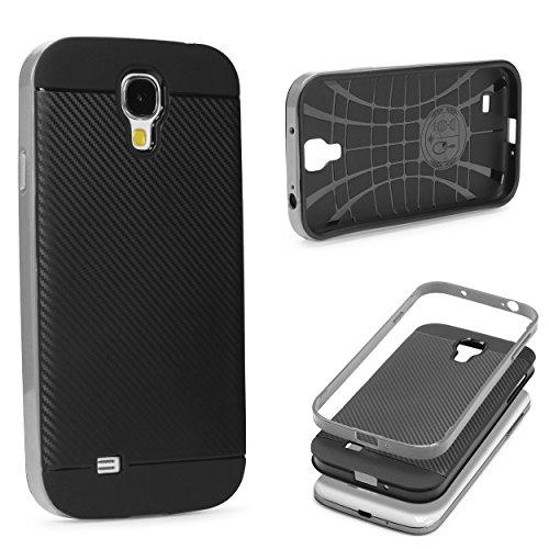 URCOVER® Case Cover Protettiva | Custodia Samsung Galaxy S4 | Guscio Flessibile in Silicone TPU e Bumper Paraurti in Grigio | Antishock Anticaduta Indistruttibile Due Parti Hybrid