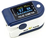 Acc U Rate® CMS 50D Pulse Oximeter with Silicon Cover, Neck/Wrist cord and Batteries