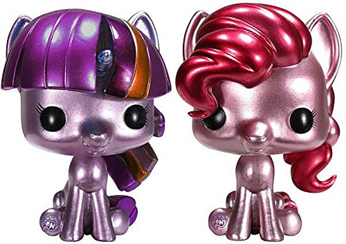Funko POP! My Little Pony Set of Both ToyWiz Exclusive Vinyl Figures Metallic Pinkie Pie & Metallic Twilight Sparkle (Pinkie Pie Pop Vinyl compare prices)
