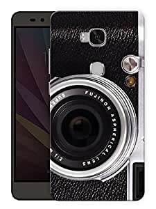 "Humor Gang Vintage Camera Face Printed Designer Mobile Back Cover For ""Huawei Honor 5X"" (3D, Matte, Premium Quality Snap On Case)"