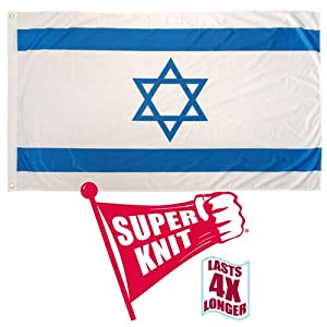 Online Stores Super Knit Polyester Israel Flag, 3 by 5-Feet