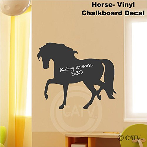 Chalkboard Horse self adhesive vinyl wall decal sticker 20x24