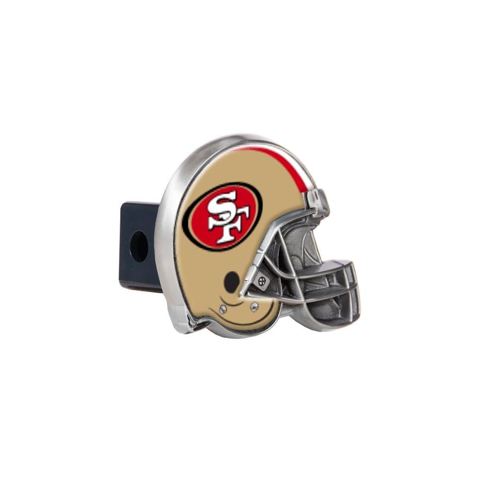 Sports NFL 49ERS Metal Helmet Trailer Hitch Cover/High Polish Metal