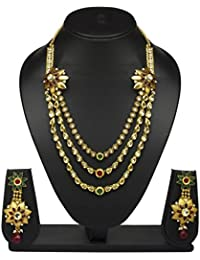 VShine Gold Plated Chain Drops Necklace And Earrings Set For Women - VSNKG138SET
