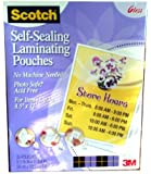Scotch® Self-Laminating Sheets Letter Size LS854-25G, 9-1/16 Inches x 11-5/8 Inches, 25 Sheets