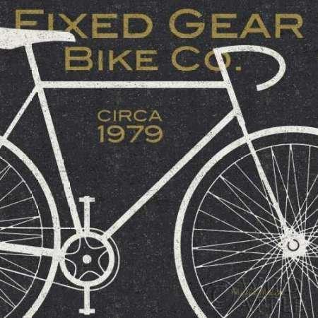 固定ギア自転車のCo - キャンバス上のファインアートプリント - 小 : 30 cms X 30 cms