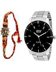 Best Gift For Brother, Men, Boys , Black Dial Analogue Casual Wear Watch With Free Rakhi (Rakhi Designs May Vary...