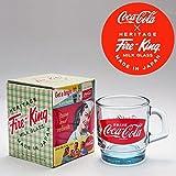 コカ・コーラ×Fire‐King(ファイヤーキング) スタッキングマグ サファイアブルー 1960s Fishtail Logo