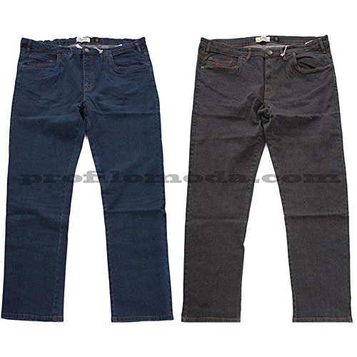 Jeans Maxfort sw Strech taglie forti uomo - Blu, 60 GIROVITA 120 CM