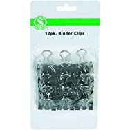 Do it Best GS10208Binder Clip - Smart Savers-12CT MED BINDER CLIPS