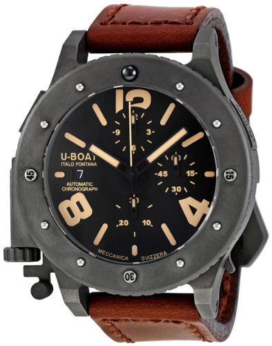U-Boat Men's 6472 U-42 Chrono 47 mm Black Dial Watch