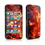 Apple iPhone 4 スキンシール【Flower Of Fire】