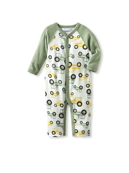 Jaxxwear Baby Tractors Raglan Romper