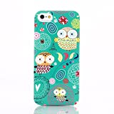 KolorFish iFunky Designer Printed Thin Silicone Back Case Cover for Apple iPhone 5, iPhone 5S, iPhone SE (Owl Dreams)