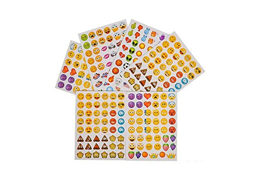 1728-EMOJI-Emoticon-STICKERS-PARTY-FAVORS-36-Sheets-of-48-Stickers-36-TATTOOS-Smiley-PARTIES-Daycare-DOCTOR-Classroom-Teachers-REWARDS