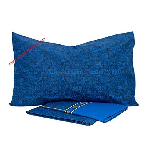 Inter Inter Completo Letto, Cotone, Nero/Blu, 150 x 295 cm/90 x 200 cm/52 x 80 cm