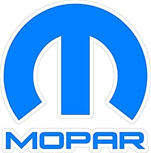 Amazon.com: MOPAR medium blue & white sticker decal: Automotive