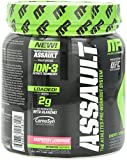 Assault by MusclePharm - Energy, Focus, Strength and Endurance Pre-Workout Supplement (30 Servings) (Raspberry Lemonade)