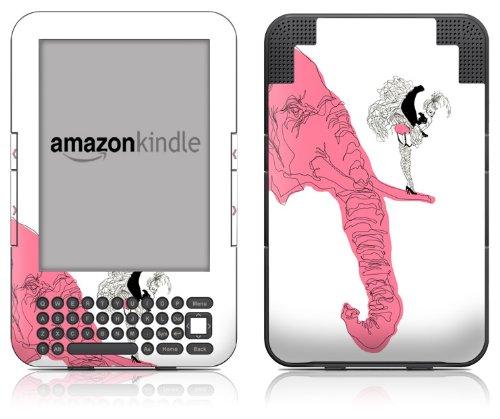 DecalGirl Kindle Skin (Fits Kindle Keyboard) Pink Elephant (Matte Finish)