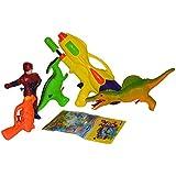 Toyzstation Combo Of Hi Tech Space Water Gun, He-man Figure Water Gun, Dino Water Gun, Dinosaur Water Gun, Water...